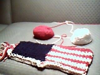 the crochet comedian - two piece bathing swim suit patriotic usa