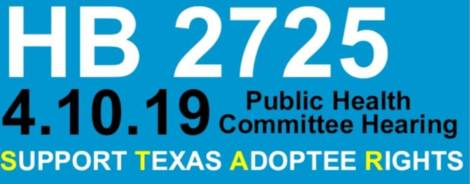 HB2725-house bill adult adoptee equal rights